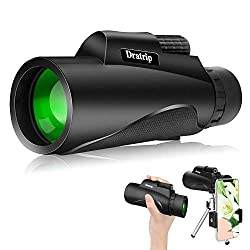 commercial Powerful 12X50 HD monocular with monocular telescope, smartphone holder and tripod, waterproof … gosky titan monocular