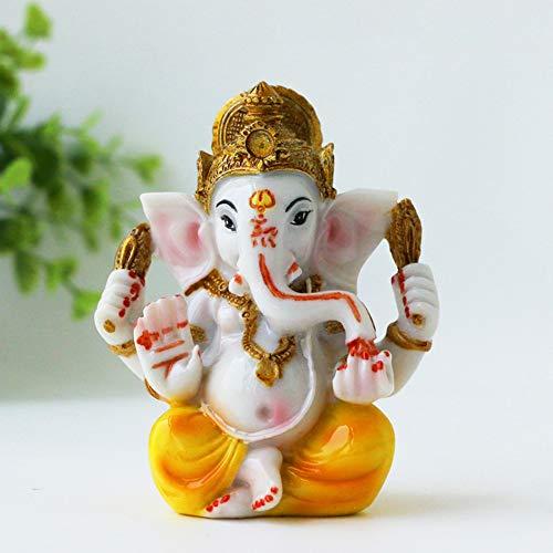 Hindu Lord Ganesha Idol Statue - Indian Diwali Gifts Small Ganesh for Car Dashboard Decor India God Figurine Home Mandir Murti Pooja Item
