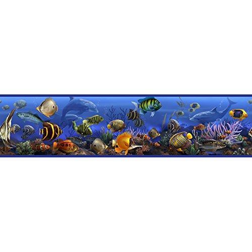 RoomMates - Wandsticker Unterwasserwelt Bordüre 12,8 cm x 4,5 m