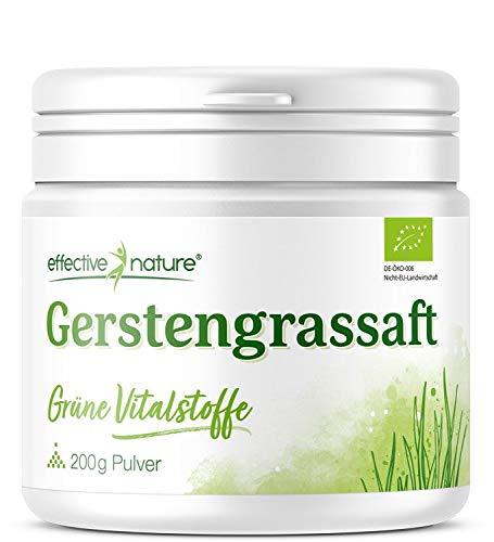 Gerstengrassaft Pulver - Reich an Eisen, Zink und Folsäure, Hochwertige Bio-Qualität, 200 g