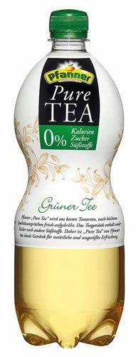 Pfanner Bio Pure Tea Grüner Tee, 0 % Kalorien/Zucker/Süßstoffe - 1L - 4x