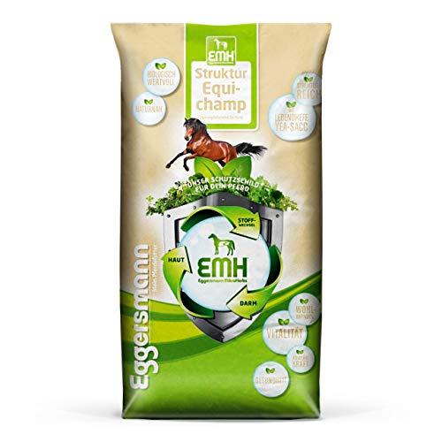 Eggersmann EMH Struktur Equichamp – Pferdemüsli mit Lebendhefe Yea-Sacc 1026 – Unterstützt Gewichtszunahme – 20 kg Sack
