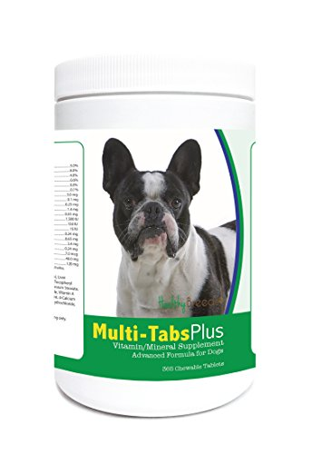 Healthy Breeds French Bulldog Multi-Tabs Plus Chewable Tablets 365 Count