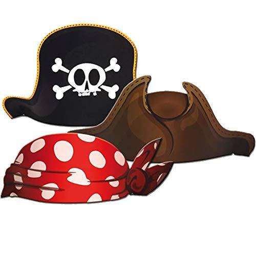 Unbekannt 6X Piraten-Hut für Kindergeburtstag oder Mottoparty // CONO // Party Kinderparty Pirat Pirates