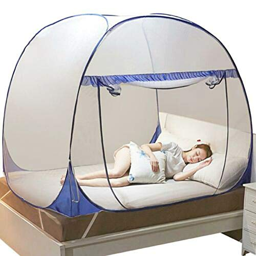 Lishiny Pop-Up Mosquito Net Tent for Beds, Anti-Mosquito Pops-up Mesh Tent Home Indoor Outdoor Garden Mosquito Net