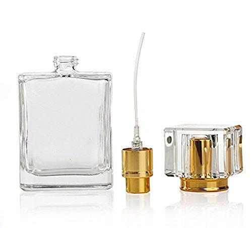 50 ML Rechargeable Vide Flacon Parfum Vaporisateur Bouteille en Verre pour Homme Femme