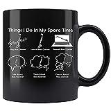 N\A Thing I Do In My Spare Time Hobby - Taza de café de cerámica para Clarinete bajo Taza de té 03QCKD