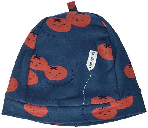 Imps & Elfs B Hat Springbok AOP Bonnet, Bleu (Majolica Blue P163), Unique (Taille Fabricant: 0M-3M) Bébé garçon