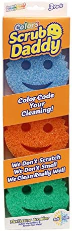 Scrub Daddy Colors Pack of 3 - Texture Changing Scrubber and Sponge