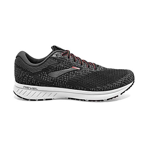 Brooks Women's Revel 3 Running Shoe, Turbulence Black Coral, 4 UK