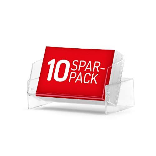 10x Visitenkartenboxen (glasklar, transparent) im günstigen 10er-Spar-Pack. Etuis zum Aufbewahren Ihrer Geschäftskarten - auch als Aufsteller nutzbar.