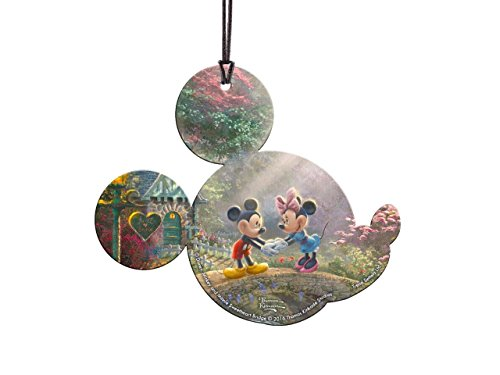 Trend Setters Disney - Mickey and Minnie Mouse - Sweetheart Bridge - Mickey Ears Shaped Hanging Acrylic Print – for Gifting and Collecting