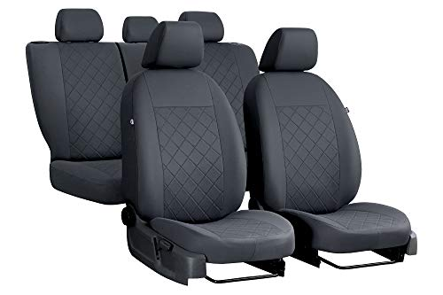 EJP Autositzbezüge maßgefertigt für Golf VII Sportsvan ab 2013.Individuell gefertigt.Stoffart Draft Line.Farbe Grau.