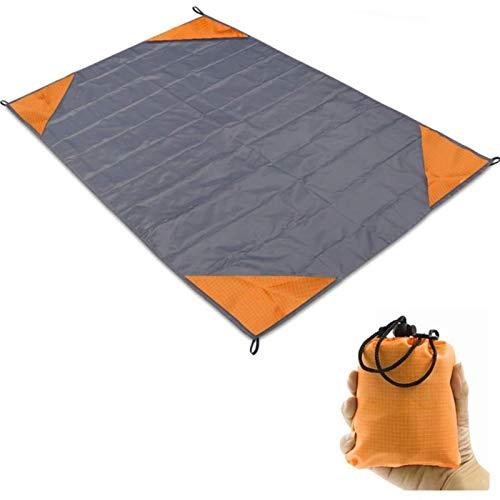 HUIHU Estera de Camping Manta de Playa de Bolsillo Estera de Picnic Portátil Colchón Colchón de Viaje de Picnic para Acampar al Aire Libre Estera de Playa de Arena Gris, 140x152cm