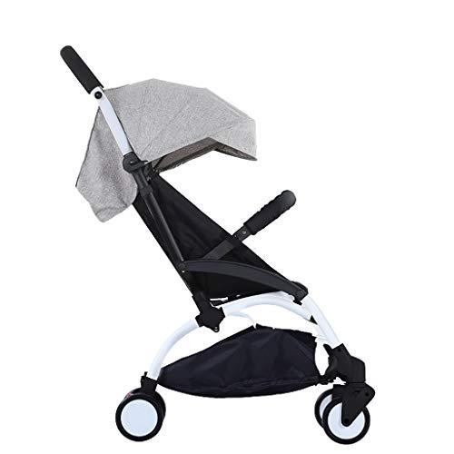 Carritos y sillas de Paseo Cochecito de bebé Plegable Ultraligero Puede Sentarse reclinable Cochecito Bebé Niño Niño Simple Paraguas de Bolsillo Bebé Sillas de Paseo (Color : Gris)