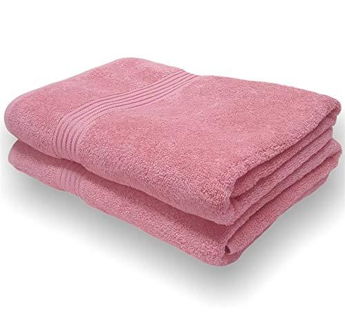 Sasma Home - 2 x sábanas de baño Jumbo (90x150cm) - 500GSM 100% algodón de fibra natural...
