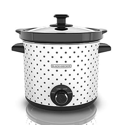 Black & Decker, Black/White SC1004D Slow Cooker, 4 Quart, 1