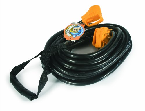 Camco 50' PowerGrip Heavy-Duty Outdoor 30-Amp Extension Cord for RV and Auto | Allows for Additional Length to Reach Distant Power Outlets | Built to Last (55197)
