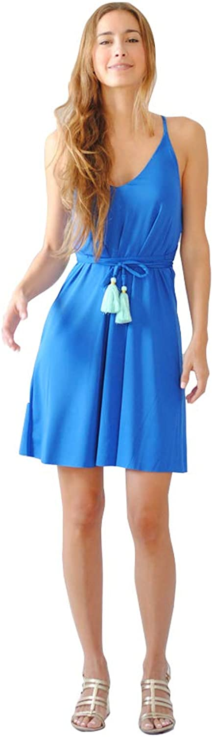 PERINOLA Women Casual Swing Short Sleeveless Dress with Tassels for Party   Cocktail   Bridesmaid