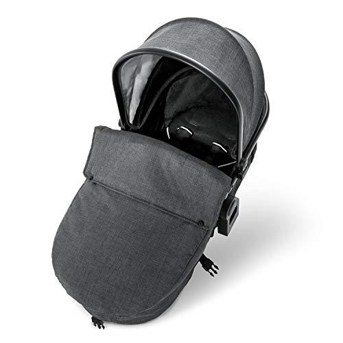 Hauck capazo para cochecito de hermanos Duett 3, montaje sin adaptador, desde nacimiento hasta 9 kg, capota convertible grande, transforma el Duett 3 en cochecito doble para recién nacidos, gris