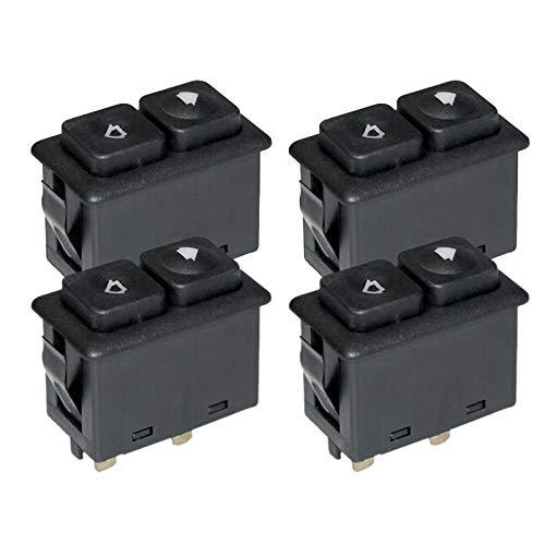 AWQC Interruptor de la Ventana 4pcs Power Window SunRoof Switch Compatible con BMW E30 E24 E28 de 09/1986 61311381205/61 31 1 381 205 reemplazo (Color Name : Black)