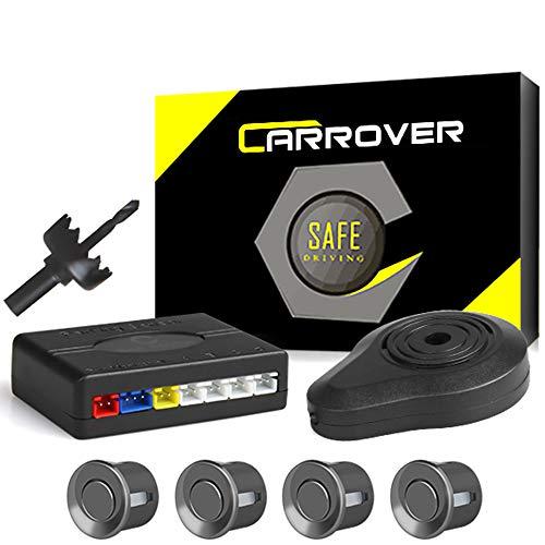 CAR ROVER® Car Capteur de Stationnement Auto Système Stationnement BiBi Alerte Sonore Buzzer Avec 4 Capteurs Gris