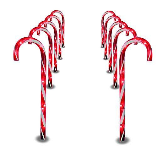 Prextex Christmas Candy Cane Pathway Markers
