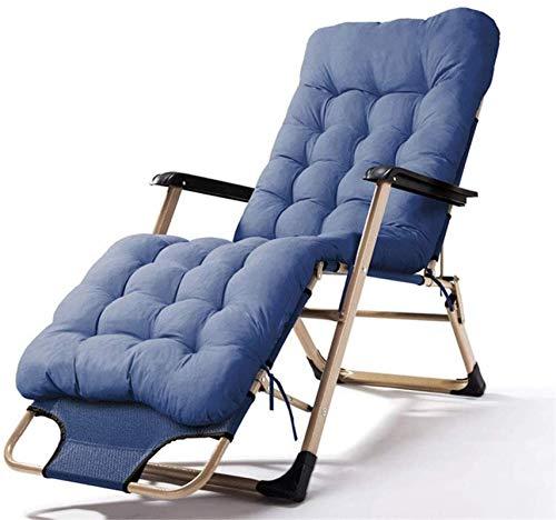 Recliner Lazy Deck Chair Rocker Folding Garden Rocking Chair Sun Lounger Outdoor Recliner Seat Sling Chair With Headrest Camping Tourism Brown