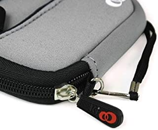 - Gray Color JJAK1 Soft Mini Neoprene SleeveLOOSE FIT with Front Pocket for Canon ELPH Powershot 100HS 4924B001 12.1 MP Digital Camera (+ 1pc Name TAG) - Best Seller on Amazon!