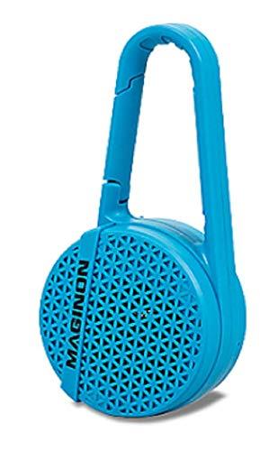 WBS-400 - Wasserdichter Bluetooth® Lautsprecher (IPX 4) - blau - 10 Meter Reichweite - Karabinerhaken