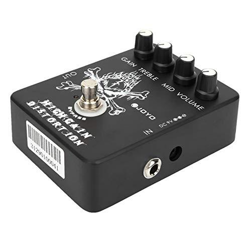 Pedal de guitarra de distorsión conveniente efecto de guitarra eléctrica para practicar para principiantes de guitarra