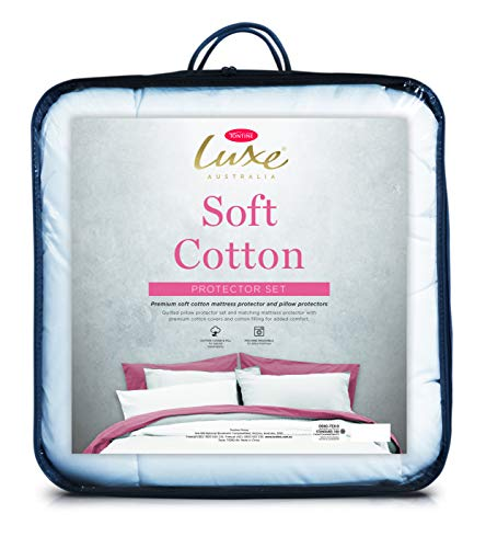 Tontine Luxe Soft Cotton Luxe Soft Cotton Mattress Protector Set, King Single Bed