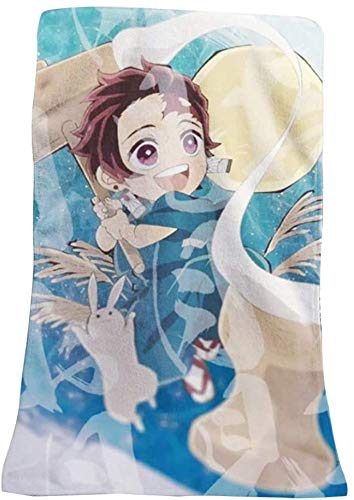 arret Middleton Gunstig Anime Demon Slayer Beach Bad Handdoek schattig Anime Rond Handdoek Multi-Style