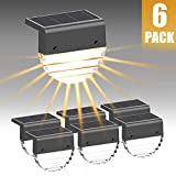 Solar Deck Lights, Solar Step Lights Outdoor Waterproof LED Solar Fence Lights...