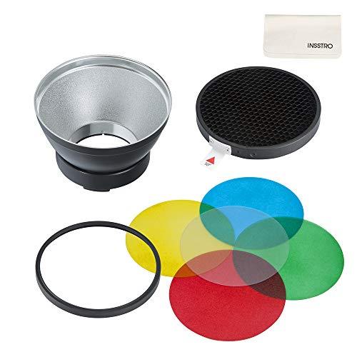 Godox AD-R14 - Kit de reflector estándar con filtro de color panal para Flash Godox AD300Pro Godox AD400Pro