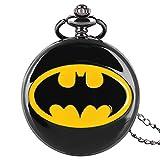 Montre Gousset Batman pour Hommes et Enfants - Montre à Gousset sur Le thème de Batman - Cadeau de Noël pour garçons et Filles