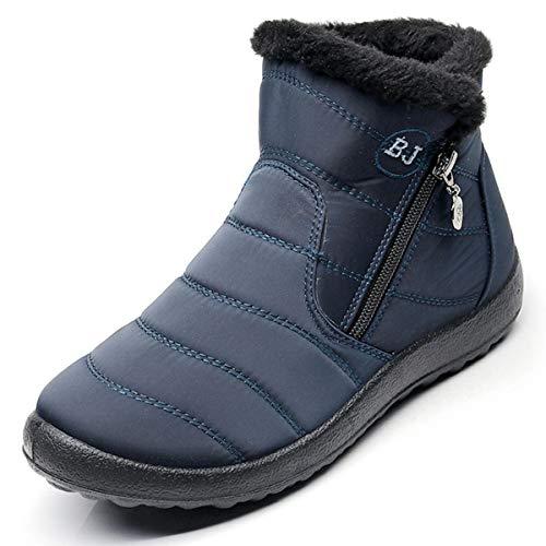Zapatos Invierno Botas de Nieve para Mujer Hombres Botines Moda Calentar Forrado Botas Tacon Zapatillas Planas 2019 Impermeable