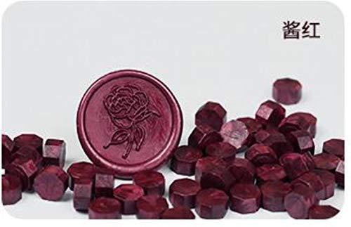 Een zak zegellak stempel kralen korrelige bonen 32-34g rond 100st vintage multi color zegel wax tablet, foto kleur 11