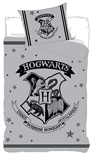 BrandMac Harry Potter Bettwäsche-Set, Bettbezug 155 x 200cm + Kopfkissenbezug, Baumwolle
