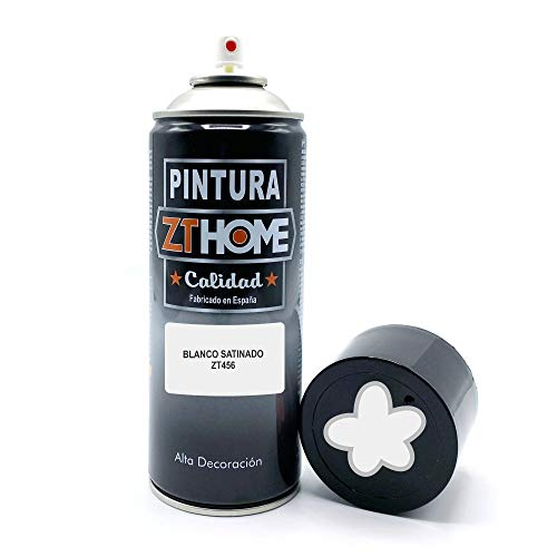 Pintura Spray Blanco Satinado 400ml imprimacion para madera, metal, ceramica, plasticos / Pinta todo tipo de cosas y superficies Radiadores, bicicleta, coche, plasticos, microondas, graffiti