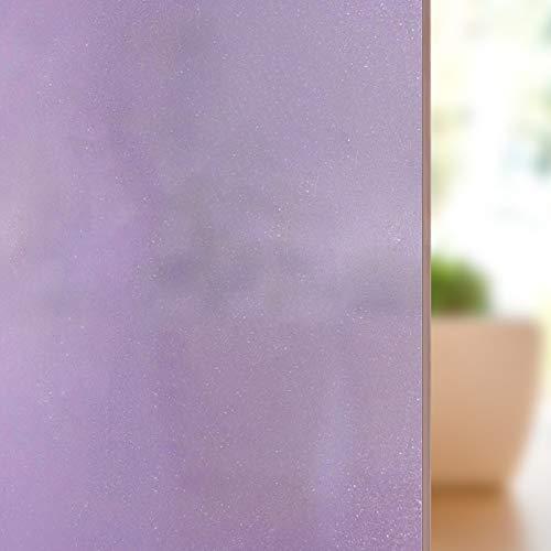 FILMGOO Adhsive Fensterfolie, Sichtschutz, Hitzeschutz, UV-Schutz, 60 cm x 180 cm, Violett