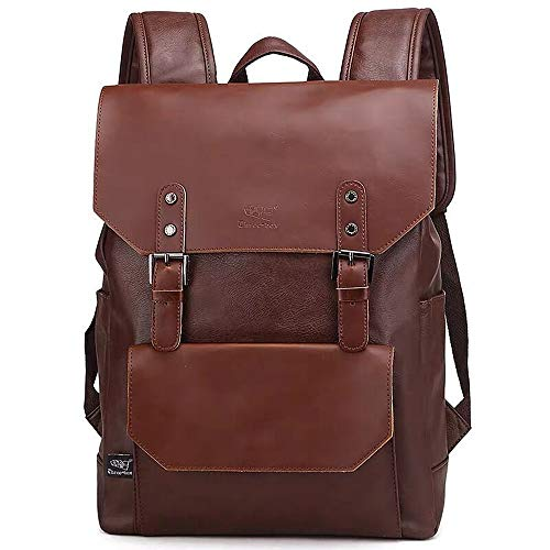 DokinReich Laptop Backpack PU Leather 14 Inch Laptop Notebook Rucksack for Women, Men...