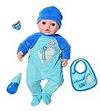 Baby Annabell - Muñeca con Funciones Alexander 43 cm, Sonidos y Movimientos realistas, Llorar,...