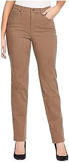 Women's All Around Slimming Rail Straight Stretch Jeans (Smoked Truffle, 8 Average)