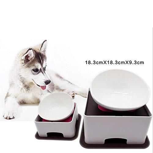 YAMEIJIA huisdier keramische kom eettafel hond kat tafel hond pot kat kom eettafel antislip verstelbare