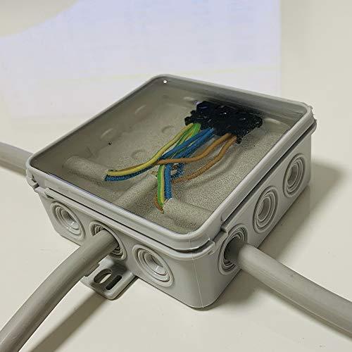 Home Profis® HPEVM-100 Elektrovergussmasse Transparent (1200g) Elektro Kabelvergussmasse bis 1.000 Volt IP68 Vergussmasse Gießharz Kabelvergussmasse Platinen Abzweigkasten LED