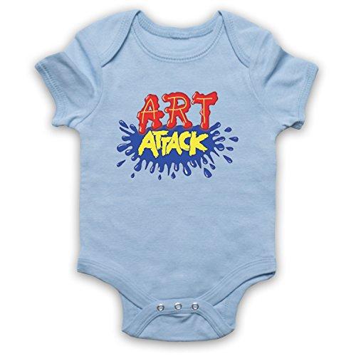 My Icon Art & Clothing Art Attack Kids TV Logo Buchanon traje bebé pelele bodys azul claro 3-6 Meses