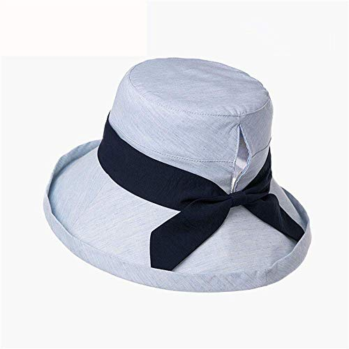 Ybzx Hut weiblicher Sommersonnenhut Wilder Fischerhut UV-Schutz große Sonnenschutzkappe japanischer Sonnenhut