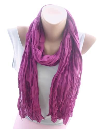 Purple Crinkle Max 56% OFF Scarf Long Shawl Atlanta Mall Women Christma Accessories