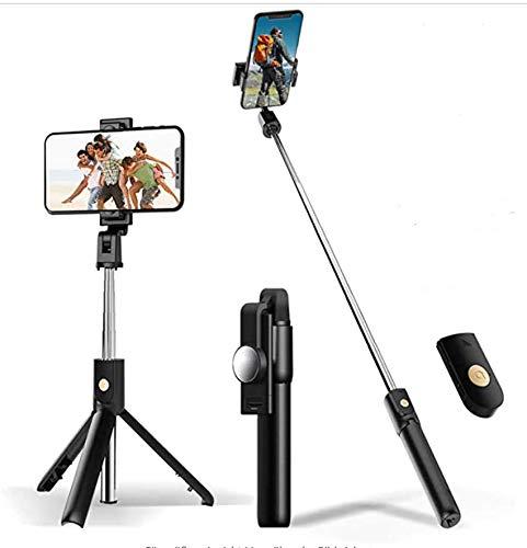 Geldee Bastone Selfie Estensibile Treppiede Selfie Stick Monopiede con Bluetooth Wireless Remote Shutter con Specchio HD per Smartphone iPhone Samsung Galaxy Huawei